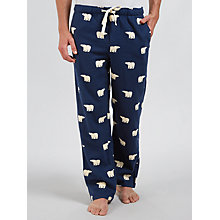 Buy John Lewis Polar Bear Print Lounge Pants, Navy Online at johnlewis.com