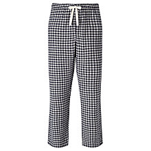 Buy John Lewis Bodmin Check Brushed Cotton Lounge Pants, Blue/Grey Online at johnlewis.com