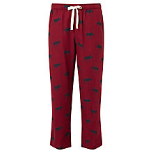 Buy John Lewis Moose Print Brushed Cotton Lounge Pants, Red Online at johnlewis.com