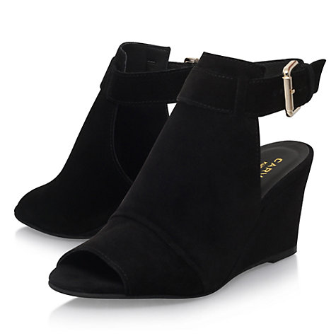 Buy Carvela Aware Wedge Heeled Sandals, Black Online at johnlewis.com