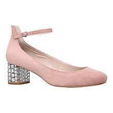 Buy Carvela Guess Block Heeled Court Shoes, Nude Online at johnlewis.com
