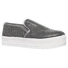 Buy Carvela Lush Flatform Slip On Trainers, Gunmetal Online at johnlewis.com