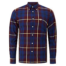 Buy Fred Perry Modern Check Shirt, Aubergine/Multi Online at johnlewis.com