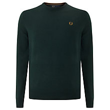 Buy Fred Perry Classic Crew Neck Knit Jumper, British Racing Green Online at johnlewis.com