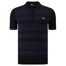 Buy Fred Perry Textured Polo Shirt, Navy Online at johnlewis.com
