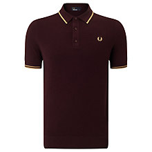 Buy Fred Perry Knitted Polo Shirt, Port Online at johnlewis.com