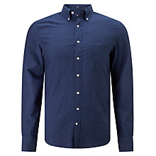 Buy Gant Pindot Cotton Regular Fit Shirt, Dark Indigo Online at johnlewis.com