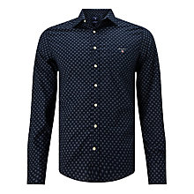 Buy Gant Foulard Print Shirt, Indigo Online at johnlewis.com