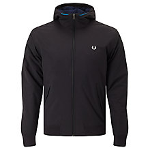 Buy Fred Perry Hooded Quilted Brentham Jacket, Black Online at johnlewis.com