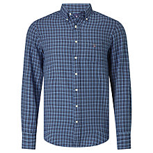 Buy Gant Mini Plaid Shirt, Dark Indigo Online at johnlewis.com