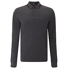 Buy Fred Perry Long Sleeve Twin Tipped Polo Shirt Online at johnlewis.com