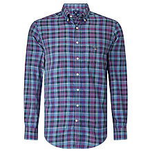 Buy Gant Tartan Check Shirt, Indigo Online at johnlewis.com