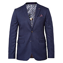 Buy Ted Baker Weller Mouliné Blazer, Navy Online at johnlewis.com