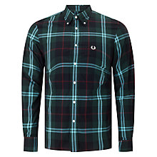 Buy Fred Perry Bold Checked Shirt, Carbon Blue Online at johnlewis.com