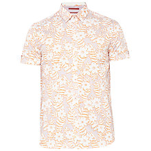 Buy Ted Baker Cotton Realhip Shirt, Pink Online at johnlewis.com