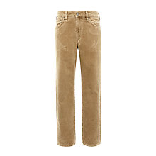 Buy Gant Regular Fit Stone Corduroy Trousers, Noisette Online at johnlewis.com
