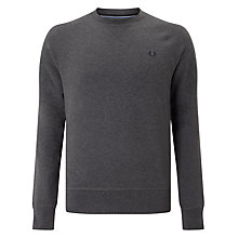 Buy Fred Perry Loopback Merino Wool Crew Jumper, Graphite Marl Online at johnlewis.com