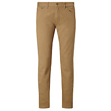Buy Gant Straight Soft Twill Trousers, Warm Khaki Online at johnlewis.com