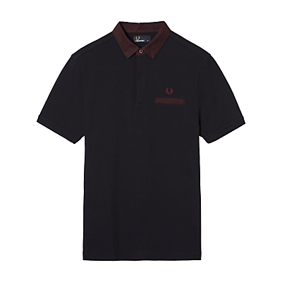 Fred Perry Oxford Trim Polo Shirt Navy