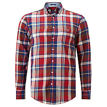 Buy Gant Winter Twill Check Shirt, Mud Brown Online at johnlewis.com