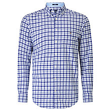 Buy Gant Dobby Tattersall Regular Fit Shirt, Yale Blue Online at johnlewis.com