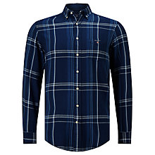 Buy Gant Plaid Button Down Shirt, Dark Indigo Online at johnlewis.com