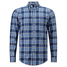 Buy Gant Oxford Plaid Regular Fit Shirt, Yale Blue Online at johnlewis.com