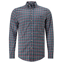 Buy Gant Oxford Plaid Shirt, Birch Green Online at johnlewis.com