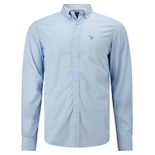 Buy Gant Gingham Print Shirt, Blue Online at johnlewis.com