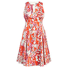 Buy Coast Cali Print Yasmin Dress, Orange Online at johnlewis.com