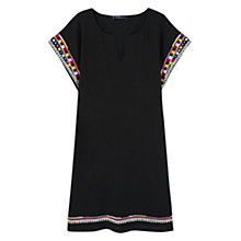 Buy Violeta by Mango Embroidered Cotton Dress, Black Online at johnlewis.com