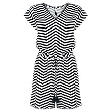 Buy Oasis Striped Playsuit, Black/White Online at johnlewis.com