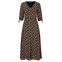 Buy Sugarhill Boutique Astrid Floral Romantic Midi Dress, Black Online at johnlewis.com
