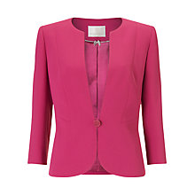 Buy Jacques Vert Button Crepe Jacket, Dark Pink Online at johnlewis.com