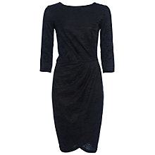 Buy French Connection Jacquard Wrap Dress, Black Online at johnlewis.com