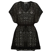 Buy Oasis Lace Kaftan, Black Online at johnlewis.com
