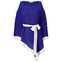 Buy Jacques Vert Cold Shoulder Belted Tunic Top, Blue/Ivory Online at johnlewis.com