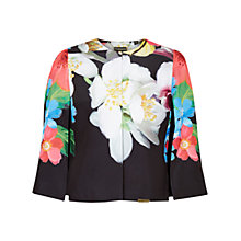 Buy Ted Baker Gisel Forget Me Not Cape, Black Online at johnlewis.com