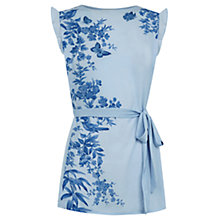 Buy Oasis Embroidered Rosie Placement Top, Light Blue Online at johnlewis.com