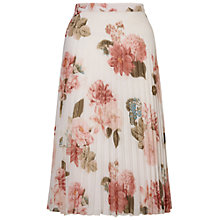 Buy Miss Selfridge Floral Print Pleat Midi Skirt, Multi Online at johnlewis.com