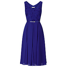 Buy Jacques Vert Cutwork Dress, Mid Blue Online at johnlewis.com