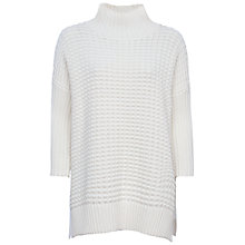 Buy French Connection Mozart Popcorn Long Sleeve High Neck Jumper, Winter White Online at johnlewis.com