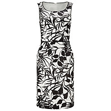 Buy Jacques Vert Printed Linen Dress, Cream/Black Online at johnlewis.com