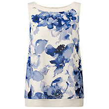 Buy Jacques Vert Jardin Print Vest Top, Blue/White Online at johnlewis.com