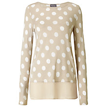 Buy Phase Eight Kelly Spot Top, Neutral Online at johnlewis.com