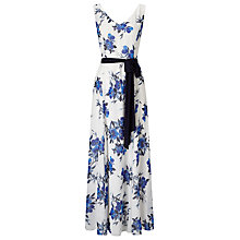 Buy Jacques Vert Floral Maxi Dress, Cream/Blue Online at johnlewis.com