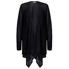 Buy Jacques Vert Sequin Waterfall Cardigan, Navy Online at johnlewis.com
