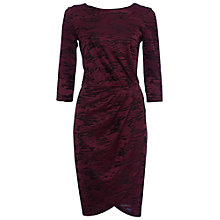Buy French Connection Stable Jacquard Wrap Dress, Zinfandel Online at johnlewis.com