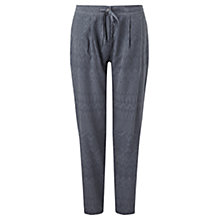 Buy Jigsaw Relaxed Jacquard Trousers, Storm Grey Online at johnlewis.com