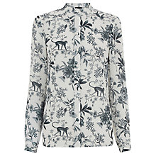 Buy Warehouse Toile De Jouy Blouse, Multi Online at johnlewis.com